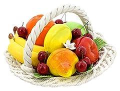 Idea Regalo - CERAMICHE D'ARTE F.L. ORGIA CENTROTAVOLA Frutta Cesto Frutta Ceramica Creazioni Stile Barocco Made in Italy