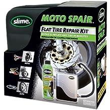 Kit ripara pneumatici moto con liquido Slime da 237ml e compressore Cod. 50024