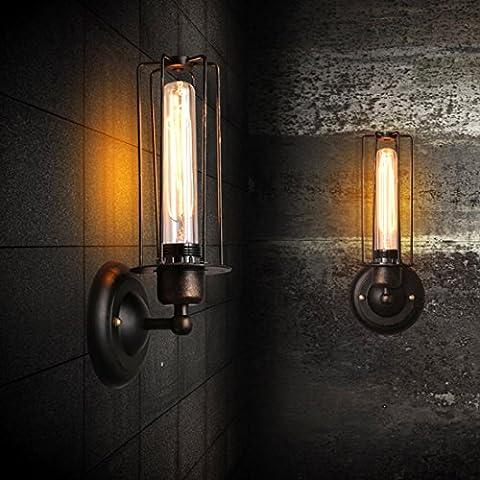 Industrie-Stil Einfach Retro Eisen Wandlampe Kreative Vogelbauer Wandleuchte Passend Wohnzimmer