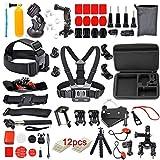 WOSOSYEYO 12 Unids / Set para Gopro Camera Juego de Paquete de...