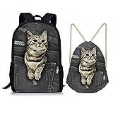 Best Backacks - Nopersonality Cat School Backack Travel Picnic Schoolbag + Review