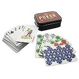 Purple Donkey PP3116Jeu de poker dans un coffret en métal