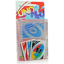 UNO H2O Playing Clear Card Game Waterproof Beach