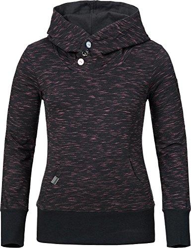 Ragwear Damen Sweatshirt Chelsea (vegan hergestellt) Schwarz gestreift Gr. L