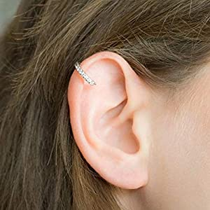 Diamant helix Knorpel Ohrring Hoop Piercing CZ Ring Ohrpiercing Knorpelring Helix Reifen Gold Silber rot Gold