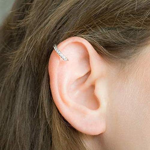 Diamant helix Knorpel Ohrring Hoop Piercing CZ Ring