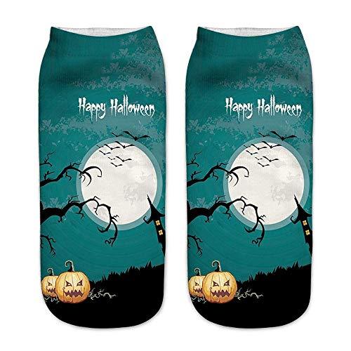 Damenen Herren Halloween Socken Lustige Bunte Baumwolle Socken Frauen HEVÜY (2019 Paar Lustig Kostüme)