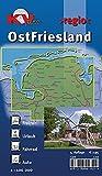 OstFriesland: 1:100.000 >regio< inkl. 60 Freizeittipps mit Infohotline, 16 Citykarten (1:25.000) 18 Radrouten und allen 7 ostfriesischen Inseln (KVplan Ostfriesland-Region)