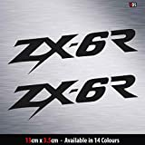 SUPERSTICKI 2X Kawasaki Ninja Zx-6r Motorrad Aufkleber ca 15cm aus Hochleistungsfolie Aufkleber Autoaufkleber Tuningaufkleber Hochleistungsfolie für alle glatten Flächen UV und Waschanlagenf