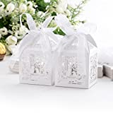 Hollow Love Birds Cage Laser Cut Sweet Gift Supplies Decor Wedding Favor Boxes 009
