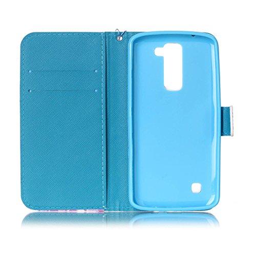 iPhone 7 Plus 5.5 Caso Custodie CaseHome Cuoio dellunità Magnetica flip Portafoglio staccabile Progettare (Gratuito HD Proteggi schermo) con Carta di Credito Le fessure e da polso Lanyard Striscia  Albero