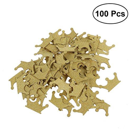 Konfetti Krone rosenice Confetti Glitter A Form-Kronen-Papier Gold für Dekoration DIY 100pcs
