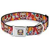 Buckle Down 22,9–38,1cm Sugar Skull Starburst weiß/Multi Farbe Hund Halsband