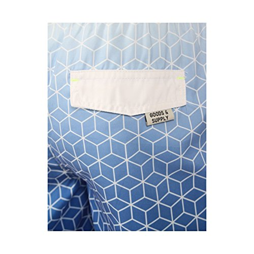 Tokyo Laundry 'Kokomo' Herren Geometrisch Druck Badeshorts Blau