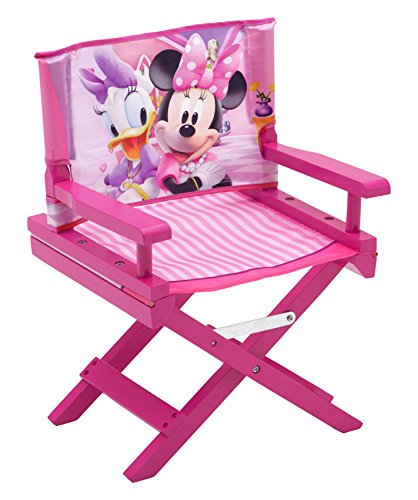 Delta Children TC85976MN Regiestuhl Minnie Mouse, Holz, rosa, Single, 35.55 x 28.90 x 53.35 cm