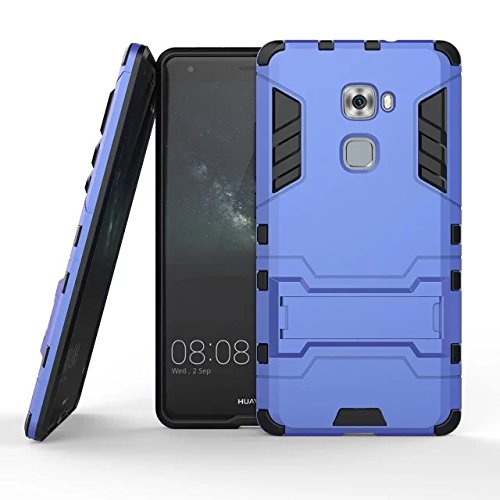 Huawei Mate S Hülle, MHHQ Hybrid 2in1 TPU+PC Schutzhülle Rugged Armor Case Cover Dual Layer Bumper Backcover mit Ständer für Huawei Mate S -Light Blue -