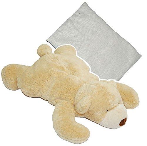 """großes Dinkelkissen / Plüschtier - """" Teddy """" - 36 cm - Wärme / Wärmekissen - Heizkissen mit Dinkel - Teddybär - groß Kuscheltier - Körnerkissen Tier / für Kinder Babys und Erwachsene - superweich"""