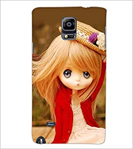 PrintDhaba Cute Doll D-1019 Back Case Cover for SAMSUNG GALAXY NOTE 2 (Multi-Coloured)