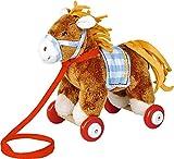 Peluche Pony Sam para Abrazar con Ruedas de Madera Para Arrastrar Serie PonyHof