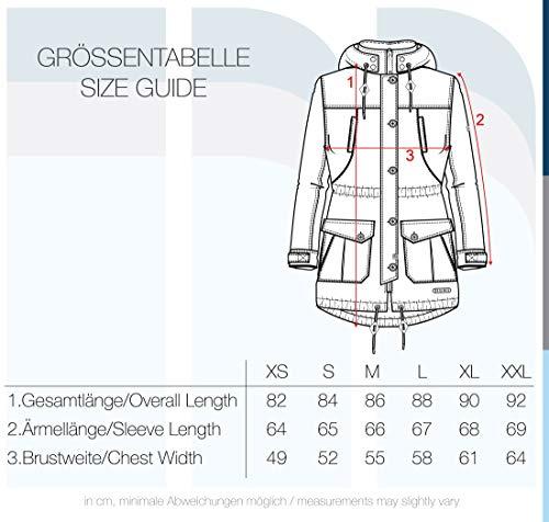 DESIRES Annabelle Damen Übergangsparka Parka Übergangsjacke Lange Jacke mit Kapuze, Größe:XS, Farbe:Coffee Bean (5973) - 6