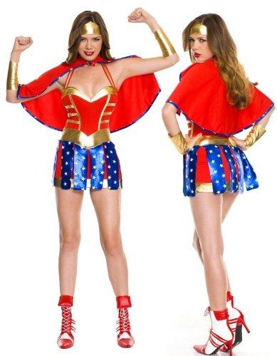 -Uniformen Supergirl Wonder Woman Kostüm Kostüme Nachtspiele ()