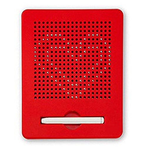 OFKPO Kinder Zaubertafel/Zeichentafel,Magnetische Stahlkugel Reißbrett Lernspielzeug für Kinder(Rot)