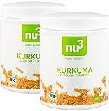 nu3 Premium Bio Kurkuma (Curcuma) | mit Piperin hoch-dosiert in veganen Kapseln | 400 Stück | enthält natürliches Curcumin Piperin aus schwarzem Pfeffer-Extrakt | Laborgeprüft aus Deutschland