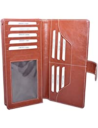 Knott Exclusive Tan PU Leather Cheque Book Holder