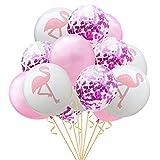 """Navigatee Ins Confetti Balloon""""-Flamingo Ballons D'ananas Confetti Air Ballons En Latex Confetti Balloon Ensemble Pour Mariage, Douche De Mariée, Fête D'anniversaire, Décorations De Fête En Or Rose"""
