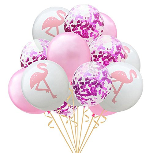 15pcs 12inch Flamingo PineappleTurtle leaf Latex Balloons Confetti Balloons for Wedding Decoration Birthday Hawaii Party Decor