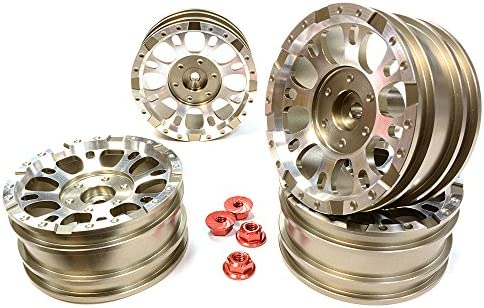 Integy Integy Integy RC Model Hop-ups C25339GUN Realistic 1.9 Size X8U Alloy Wheel (4)M4 Nut for Scale Off-Road Crawler | à Bas Prix  c7326a