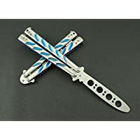 VAGANY farfalla di alta qualità lama pratica Trainer Knife Tool (Dull Knife) (blu)