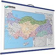 GURBUZ 25030 Kabartma Türkiye bölgeler 70 x 100