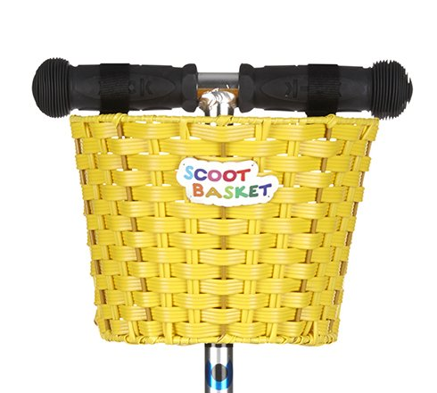 Nscoot N Pull Scoot Basket Panier pour trottinette (jaune)