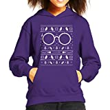 Harry Potter Christmas Knit Pattern Kid's Hooded Sweatshirt