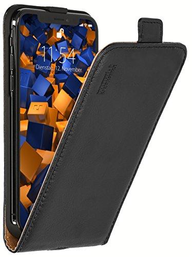 mumbi PREMIUM Leder Flip Case für iPhone X XS Tasche Leder Flip Case