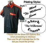 Personalizado impreso camisa, diseño de dardos–negro/naranja, naranja, XXL