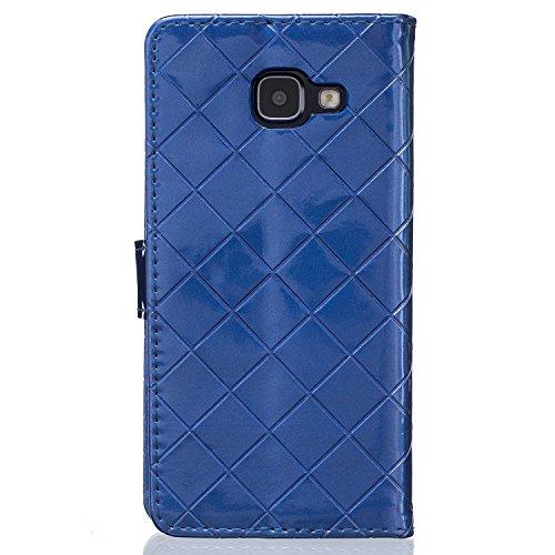 Samsung Galaxy A3 A5 A310(2016) A510 Case,mode, Gitterförmige Muster Glatte Oberfläche Design Folio Pu Ledergeldbeutel Fall Decken Mit Stehen / Card Slot Für Samsung Galaxy A3, A5 A310(2016) A510 ( Co Blue