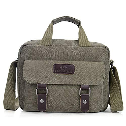Handtasche Männer koreanische Version der Flut geschleudert Casual Canvas Rucksack Umhängetasche Männer Tasche grün -