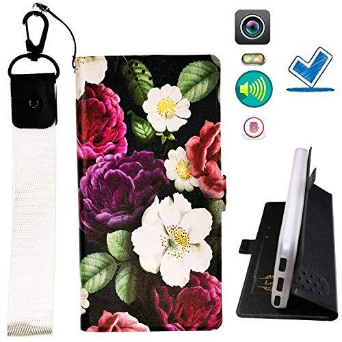 HYJPT Hulle fur Elephone P8 Mini Hülle Flip PU-Leder + Silikon Cover Case Fest Hua
