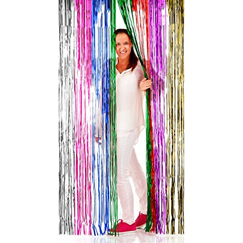 bunt, 2 x 1 m (Karneval Party Dekorationen)