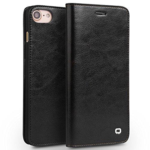 Apple iPhone Echtleder Wallet Case, braun, 6 Plus / 6s Plus schwarz