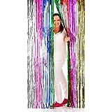 Cortina Iridiscente Multicolor Arco Iris Lametta 2 x 1 m Decoración Fiestas Discoteca