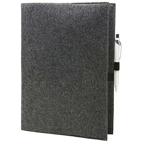 EQT-FASHION Premium Leseschutz Filz Hülle Buch für A4 Notizbücher Filz Buchhülle edler Einband Umschlag