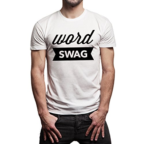 SWAG Word Swag No Back Herren T-Shirt Weiß