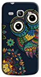 Mixroom - Cover Custodia Case in TPU Silicone Morbida per Samsung Galaxy Core Plus G350 G3500 M727 Gufo Fantasia Etnica