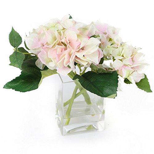 Closer 2 Nature Artificial Flower, Künstliche Hortensie Anordnung in Deko Vase
