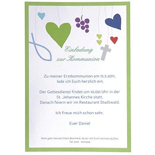 Einladungskarten/Dankeskarten 'Credo' je 20 Stück inkl. 40 Platzkarten und Zubehör- zur Taufe Kommunion Konfirmation