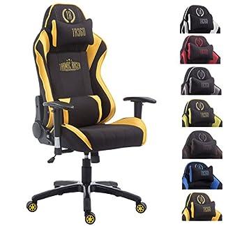 CLP Silla de oficina SHIFT XL. La silla gaming Tarmac Racer tiene tapizado de tela y soporta un peso máximo de 150 kg. Con reposapiés y cojines para cuello y lumbares. sin reposapiés, sin reposapiés