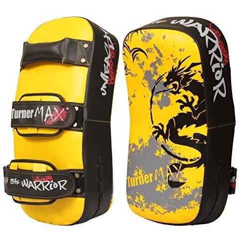 TurnerMAX tailandés curvo Brazo huelga Pads MMA Boxeo puñetazo Kick